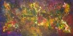 Luka Koščak, ''Svemir (3)'', akril na platnu, 100x200 cm