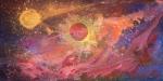 Luka Koščak, ''Svemir (2)'', akril na platnu, 100x200 cm