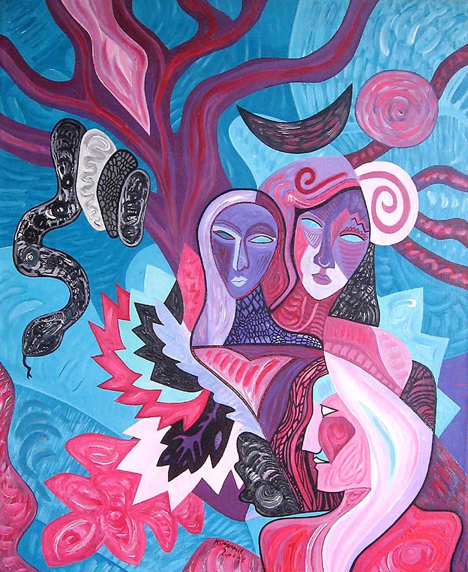 ''Hekatin čar'', akril na platnu, 80x65 cm, 2001.