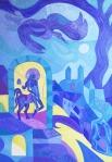 ''Vrijeme kentaura - novi početak'', akril na platnu, 100x70 cm, 2011.