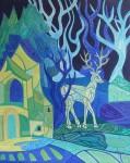 ''Jelenova šuma'', akril na platnu, 50x40 cm, 2013.