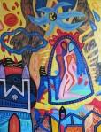 ''Ples Jina i Janga'', akril na platnu, 90x70 cm, 2003.
