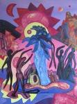 ''Ples u čarobnoj šumi'', akril na platnu, 80x60 cm, 2000.
