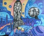 ''Vrijeme Izide'', akril na platnu, 60x80 cm, 2004.