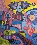 ''Venerin hram'', akril na platnu, 60x50 cm, 1998.
