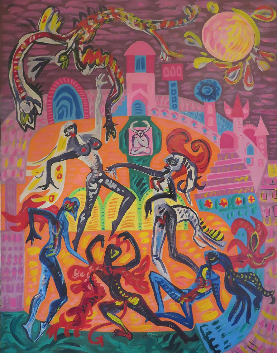 ''Ples vještica'', akril na platnu, 90x70 cm, 1994.
