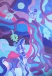 ''Kentaur i drvo života'', akril na platnu, 100x70 cm, 2011.