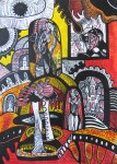 ''Perzefona u Hadu'', crtež tuš na papiru, 70x50 cm, 2003.