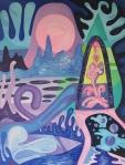 ''Univerzum'', akril na platnu, 90x70 cm, 1999.