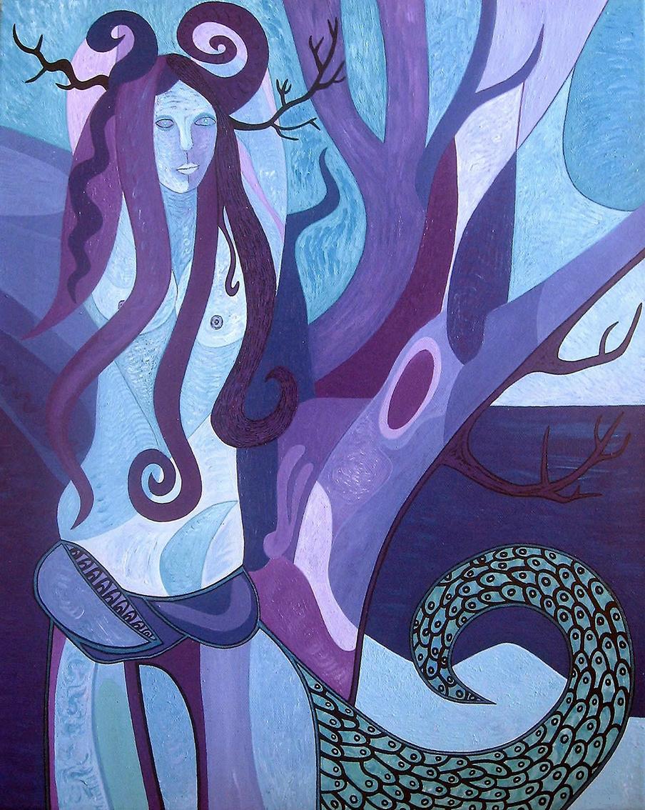 ''Morana'', akril na platnu, 50x40 cm, 2007.