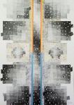 Izabela Hren, ''Duhovna vatra'', crtež olovka, drvene bojice na papiru, 42x29,7 cm