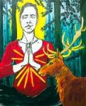 Jelena Martinović, ''Meditacija'', akril na platnu, 100x80 cm