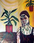 Jelena Martinović, ''Povezana sam'', akril na platnu, 100x80 cm