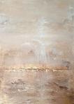 Marija Čingel, ''Meditacija - Psalam 19: Dragocjeniji od zlata / ciklus Lectio divina'', akril na platnu, 70x50 cm
