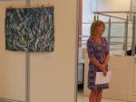 Morana Jugović na otvorenju svoje izložbe, galerija Kontrast, 2020.