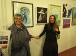 Sa otvorenja izložbe ''Kroz sliku i riječ'', galerija Sunce, Uriho, 2018., Antonija Cesarec, Ivana Kolić