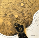 "Valentina Kasapović, ""Gaia"", akril na platnu, 50x50 cm"