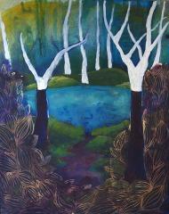 Valentina Marđetko, ''Priroda kao mjesto duhovnosti'', akril na platnu, 50x40 cm