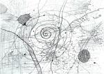 """Alenka Tominac, """"Sila društva"""", olovka na papiru, 30x42 cm"""