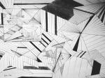 Ljiljana Tršan, ''Crno bijeli svijet'', tuš na papiru, 29x40 cm