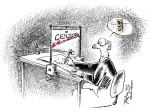 Mario Rosanda, ''Cenzura'', tuš i pero, acryl, grafitna jezgra, A4