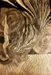 Nataša Ač, ''Duboki zaron'', crne i bijele keramičke olovke, 64×41 cm