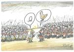 Slobodan Butir, karikatura 1, akvarel, A4