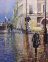 Ana Sušec, ''U bojama kišnih kapi'', suhi pastel, 60x50 cm
