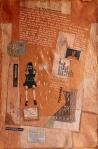 Darija Dolanski Majdak, ''Zmija Lik'', crtež na rižinom papiru, 75x50 cm