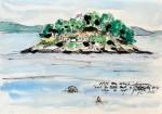 Jelena Martinović, ''Avantura zvana ljeto – Galešnik'', kolorirani crtež tušem na papiru, A4