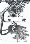 Jelena Martinović, ''Avantura zvana ljeto 3'', crtež markerom i tušem na papiru, A4