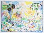 Marija Čingel, ''Ljetne vibre 2'', uljni pastel, 46x60 cm
