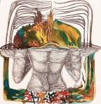 Nataša Ač, ''Žena jezera'', keramička olovka i tuš, 32×34 cm