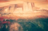 Vera Antolić, ''Nerođeni grad'', ulje na platnu, 50x70 cm
