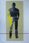 Andrea Cihlar, ''Kontemplacija'', akrilne boje na ljepenci, 60x40 cm