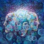 Ivana Mikulić, ''Kroz sva bića prostor jedan'', akril na platnu, 50x50 cm