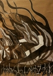 Nataša Ač, ''Izgaranja'', crtež, 78,5x58 cm