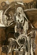 Nataša Ač, ''Novi početak'', crtež, 78,5x58 cm