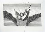 Tin Samaržija, ''Čamac Dox'', crtež rapidografom, 21x 29,7 cm